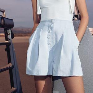 Gianni Bini Dylan High Waist Button Front Shorts